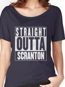 STRAIGHT OUTTA SCRANTON Women's Relaxed Fit T-Shirt