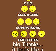 CEO Managers Supervisors Employees No Thanks It Looks like A Pyramid Scam to Me  by fashionera