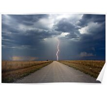 Lightning Strike in the Great Plains (Bartlesville, Oklahoma, USA) Poster
