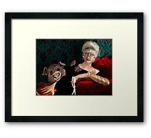 Pearl Before Swine, by Alma Lee Framed Print