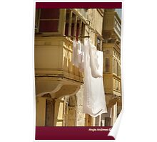 Maltese Balconies  Poster