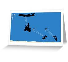 kite landboarding evolution Greeting Card
