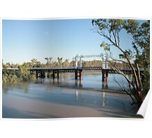 The North Bourke Bridge. Poster