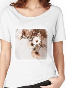 Flowers Art Poster Women's Relaxed Fit T-Shirt