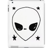 Black and White Alien with Stars iPad Case/Skin
