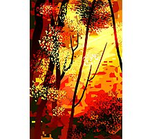 Winsome beauty of the abstract painting	 Photographic Print