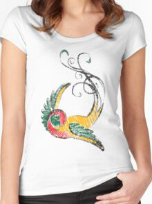 Scribbly Swallow Women's Fitted Scoop T-Shirt