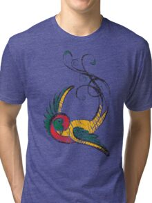 Scribbly Swallow Tri-blend T-Shirt
