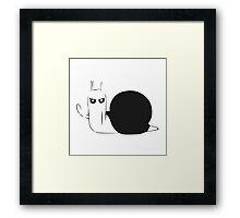 Adventure Time Snail Possessed - One Colour Framed Print