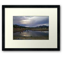 Dam in the Flinders Framed Print