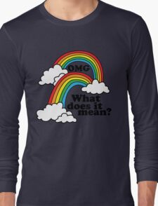Double Rainbow - OMG Long Sleeve T-Shirt