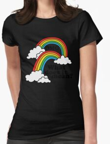 Double Rainbow - OMG Womens Fitted T-Shirt