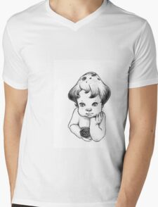 Shroom Angel Mens V-Neck T-Shirt
