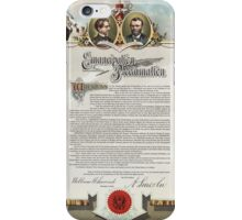 J. S. Smith & Co. copy of the Emancipation Proclamation iPhone Case/Skin