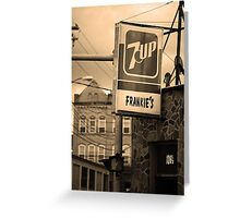 Binghampton, New York - Frankie's Tavern Greeting Card