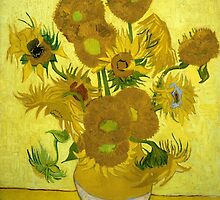 Sunflowers - Vincent van Gogh (1888) by ECCO