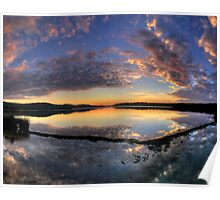 In A Reflective Mood - Narrabeen Lakes, Sydney - The HDR Experience Poster