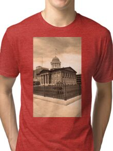 Springfield, Illinois - Old State Capitol Tri-blend T-Shirt