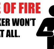 In case of fire... Sticker