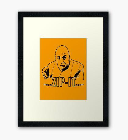 Austin Powers Dr. Evil Zip It T shirt Framed Print