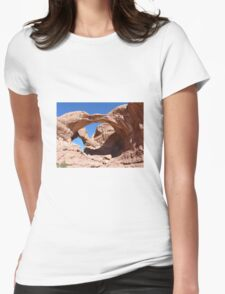 Rock formation Womens Fitted T-Shirt