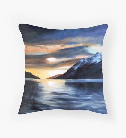 Loch Lochy Scotland Throw Pillow