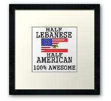 Half Lebanese Half American Framed Print
