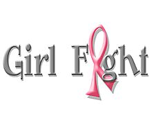 Girl Fight for Breast Cancer Awareness Pink Ribbon Photographic Print