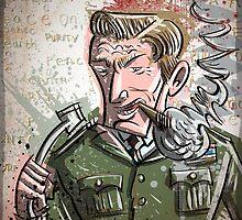 Jack Ripper, Dr Strangelove, Art, illustration, drawing, stanley kubrick, stanley, kubrick, film, movie, auteur, doctor, strangelove, Sargent, love, strange, joe badon by Joe Badon