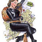 Batman 66 Catwoman Julie Newmar Pin-up by Jesse Rubenfeld