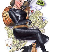 Batman 66 Catwoman Julie Newmar Pin-up by Jesse Rubenfeld