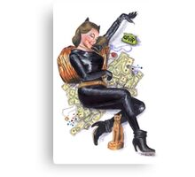 Batman 66 Catwoman Julie Newmar Pin-up Canvas Print