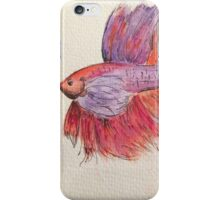 Siamese fighting fish iPhone Case/Skin