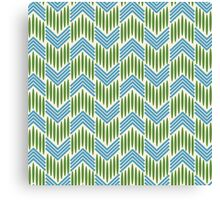 Vintage Basket-weave: Chevron Canvas Print