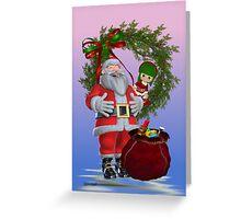 Santa`s Christmas Greeting Card
