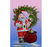 Santa`s Christmas Photographic Print