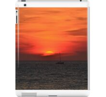 beautyful sunset on the sea iPad Case/Skin