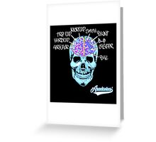 Skate On The Brain ~ Anachrotees Design Greeting Card