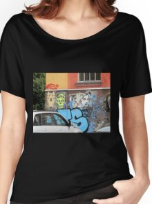 Old Building Grafitti Women's Relaxed Fit T-Shirt
