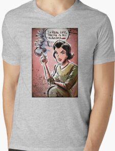 Audrey Horne, Twin Peaks, Art, David Lynch, Sherilyn Fenn, Fire Walk With Me, Movie, Poster, weird, tv, show, joe badon, avant-garde Mens V-Neck T-Shirt