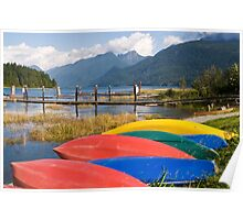 Colourful Canoes  Poster
