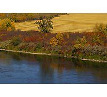 Fall Riverbank Photographic Print