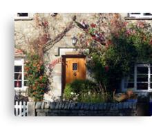 *Clematis Cottage* Canvas Print