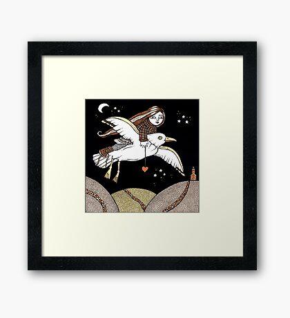 Frannie's Flight of Fancy Framed Print