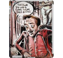 Twin Peaks, Dwarf, David Lynch, Michael , Fire Walk With Me, The Man from Another World, the man from another, Black Lodge, Red Room, illustration, little, person, backwards, talking, joe badon iPad Case/Skin