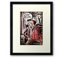 Twin Peaks, Dwarf, David Lynch, Michael , Fire Walk With Me, The Man from Another World, the man from another, Black Lodge, Red Room, illustration, little, person, backwards, talking, joe badon Framed Print