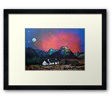 The Black Rock Cottage, Glen Coe, Scottish Highlands. Framed Print