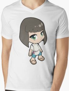 Studio Ghibli - Spirited Away - Haku (Human) Mens V-Neck T-Shirt