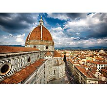 Florance with the Dome of the Basilica of Saint Mary of the Flower Photographic Print