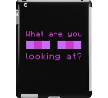 Stop Looking at Me iPad Case/Skin
